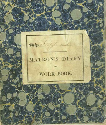 Front cover of the Matron's Diary from NRS 5329