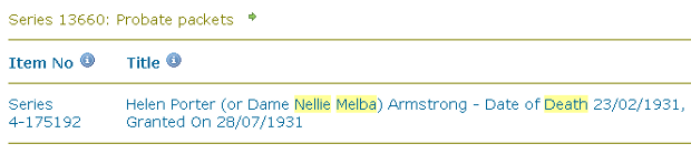 "Search results for Nellie Melba using ""All Words"""