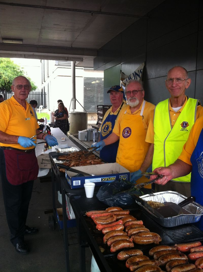 Open Day 2011 - The Lions Club put on a terrific sausage sizzle. Photo by Fiona Sullivan