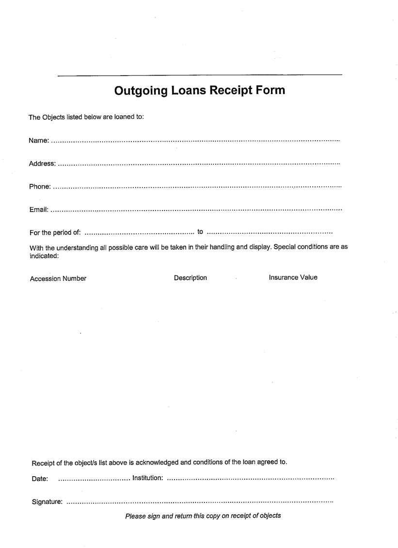 Managing local collections useful resources – Sample Deed of Gift Form