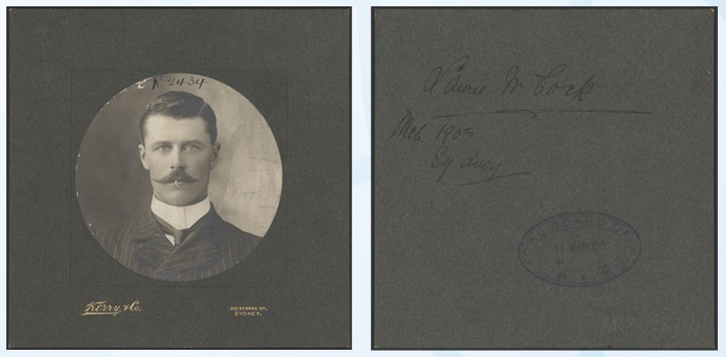 Framing of pictures and text on reverse of image