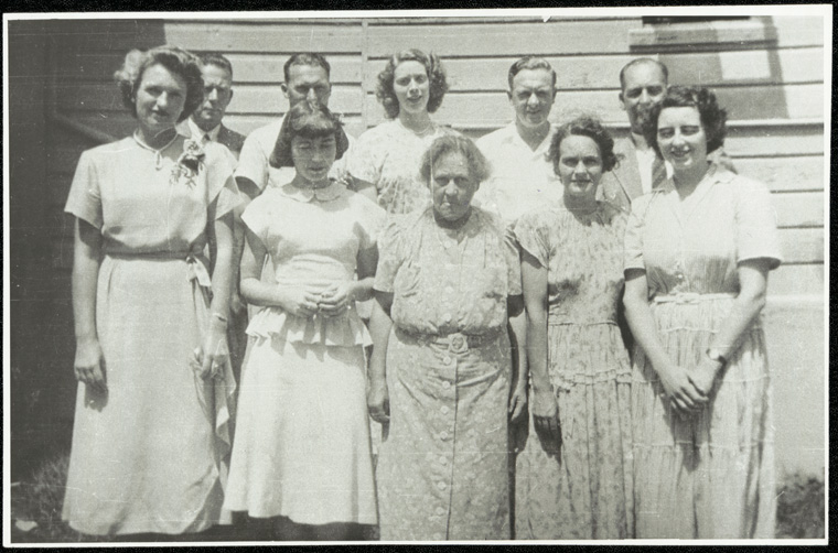 Caption: Staff at Canowindra District Rural School - Miss McKenzie centre front taught at the school from 1902-1950 Digital ID: 15051_a047_002502.jpg  Date: year only 31/12/1950