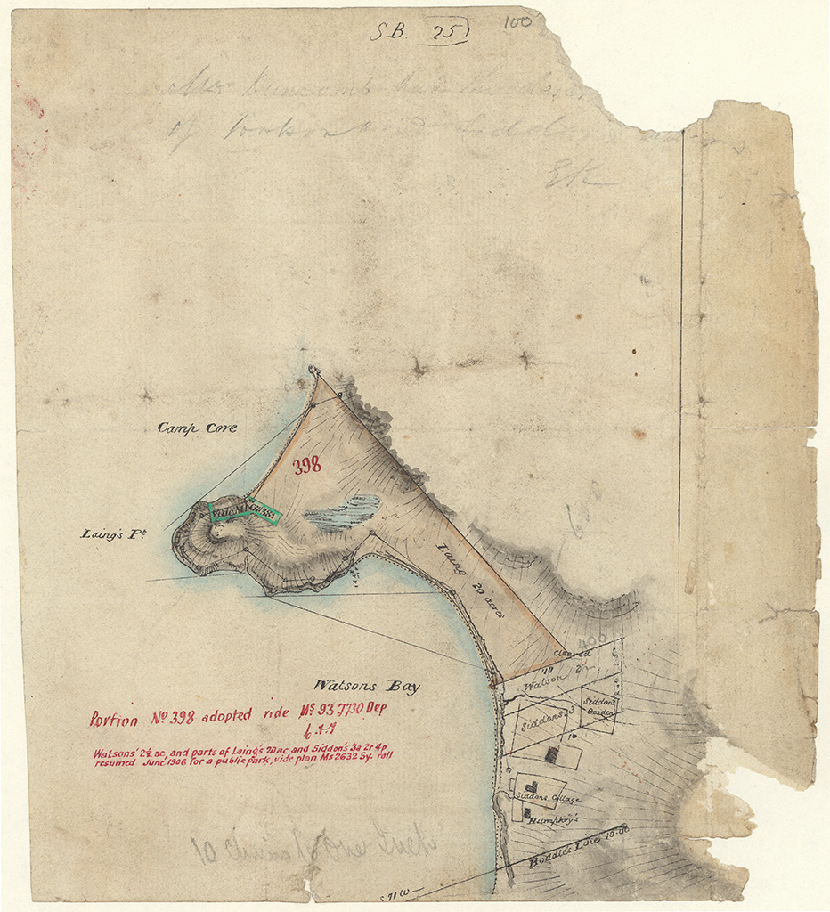 [100] [Laings 20 acres at Watsons also houses and gradens to the south of it. Sketch book 1 folio 25] NRS13886X751_a110_000100.jpg