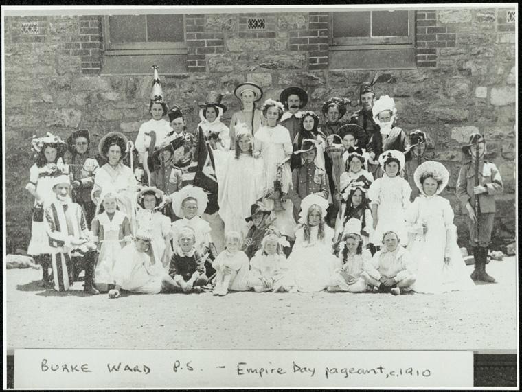 Caption: Burke Ward Public School - Empire Day pageant  Digital ID: 15051_a047_002048.jpg  Date: year only 31/12/1910