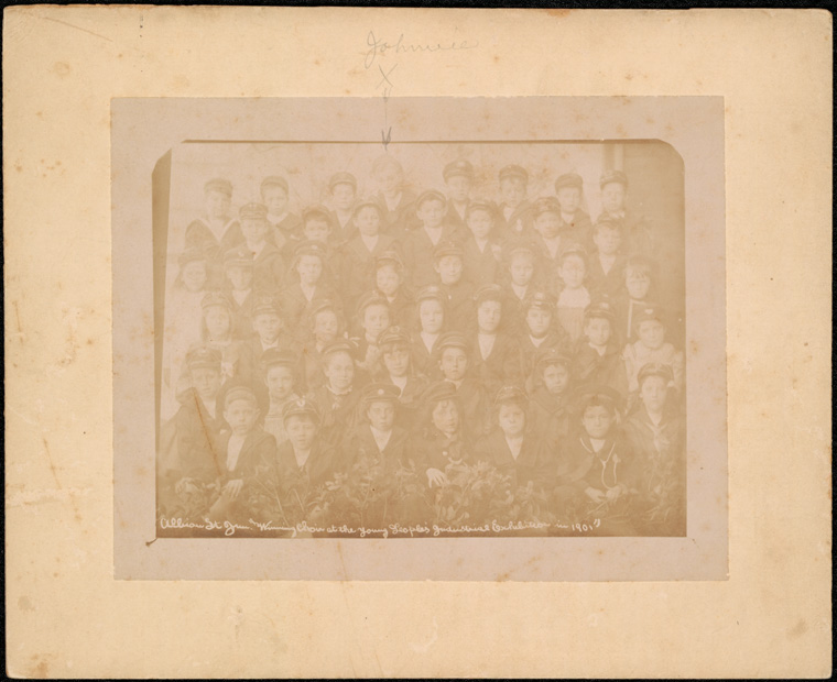 Caption: Albion Street Public School (Paddington) - winning choir at the Young People's Industrial Exhibition in 1901  Digital ID: 15051_a047_000074.jpg  Date: 1901